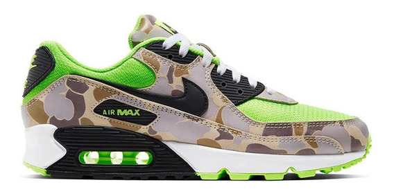 Tenis Nike Air Max 90 Green Ghost Duck Camo Camuflado Atmos