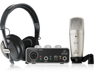 Kit Behringer U-phoria Studio Placa De Audio + Mic + Auris