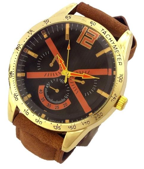 Relógio Masculino Analógico Pulseira Couro Sintético B5683