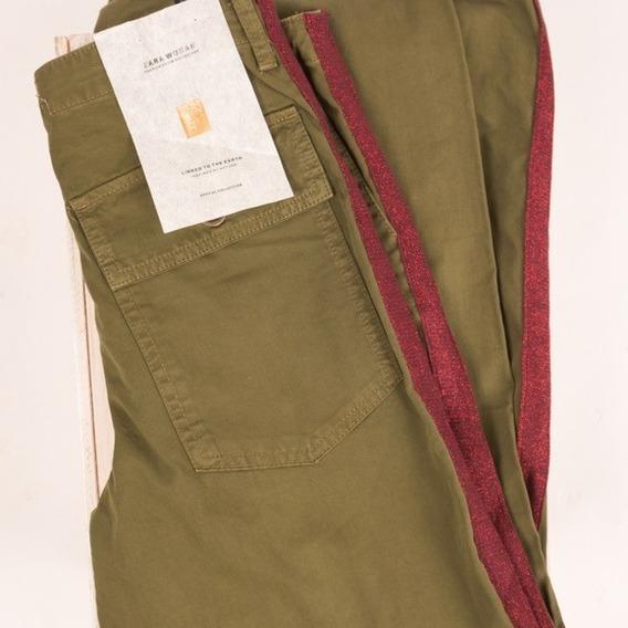 Pantalon Z.a.r.a. Cargo Banda Lateral