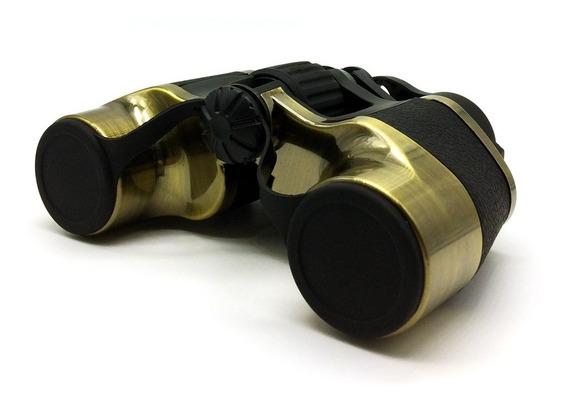Binóculo Compacto Com Bolsa 7x32 Preto E Dourado