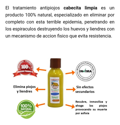Cabecita Limpia Shampoo Para Eliminar Pi - mL a $83