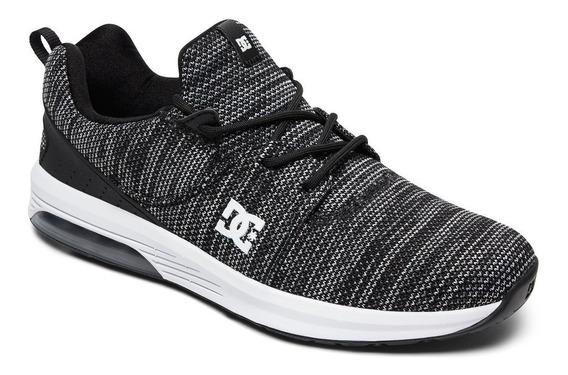 Zapatillas Dc Shoes Modelo Heathrow Ia Tx Le Negro Blanco!!