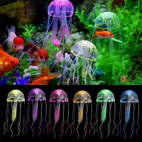 Medusa Artificial Fluorescente Para Acuarios