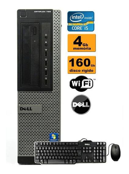 Cpu Dell 790/990 Core I5 4gb Hd160gb Teclado Mouse Promoção