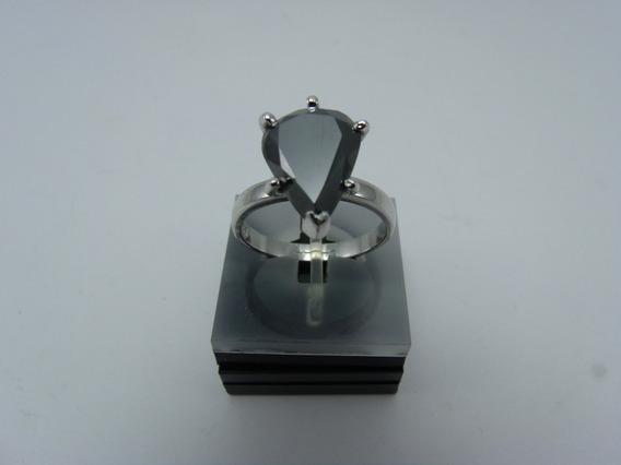 Tw Anel Diamante Negro Moissanite 19cts Prata 925