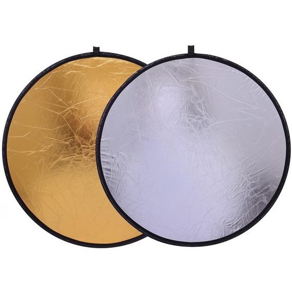 Rebatedor Fotográfico 2 Em 1 80cm Prata/dourado 2x1 Case