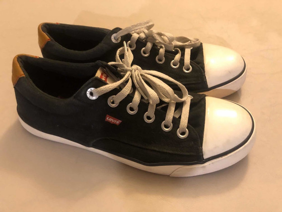 Zapatillas Levis Negras Y Blancas Talle 41 Impecables