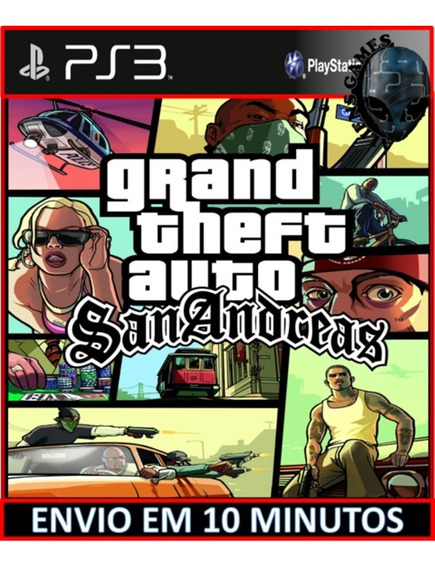 Grand Theft Auto San Andreas Gta Ps3 Psn Digital Envio Hoje