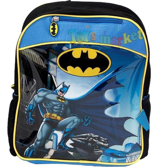 Mochila De Batman 12 Para Jardin Con Capa 35 Cm Original