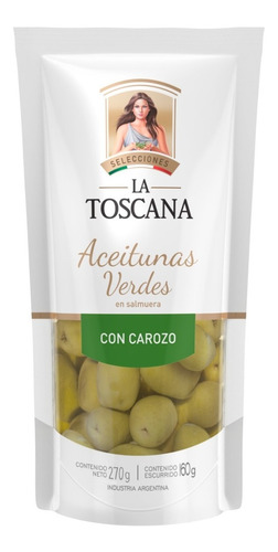 Aceitunas Verdes Con Carozo La Toscana 270 Grs