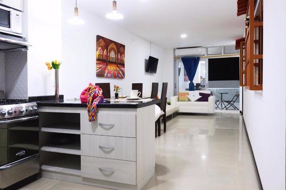 Apartamento Amoblado En Tequendama & Imbanaco Con 3 A/c