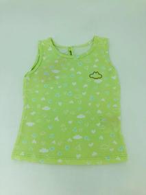 Camiseta Lilica Ripilica Regata Menina Verde Claro