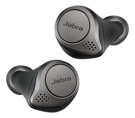 Fone de ouvido sem fio Jabra 75t titanium black