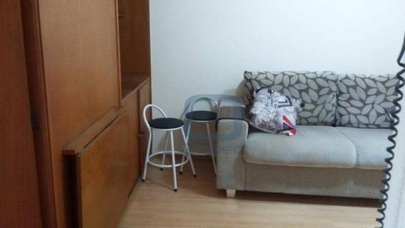 Kitnet Com 1 Dormitório Para Alugar, 30 M² Por R$ 650,00/mês - Centro - Campinas/sp - Kn0071