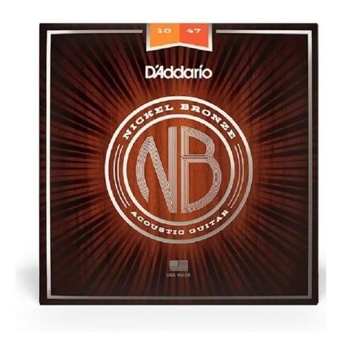 Imagem 1 de 1 de Encordoamento Violão 010 D'addario Aço Nickel Bronze Nb1047