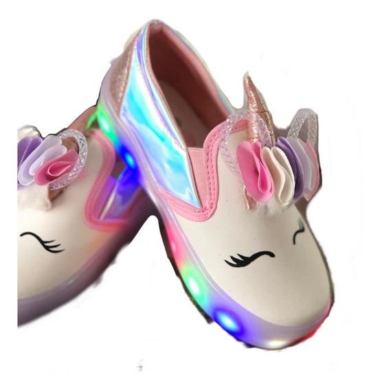 Teni Luces Led Unicornio Cambia De Color Con El Sol
