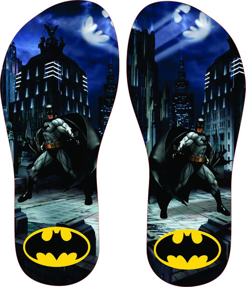 Chinelo Personalizado Tema Do Batman Infantil