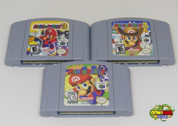 Lote C/ Coleção Mario Party 1 2 3 Nintendo 64 Novos N64 Kit