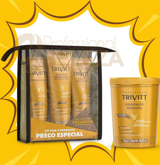 Combo Kit Home Care C Leavein + Mascara 1kg Itallian Trivitt