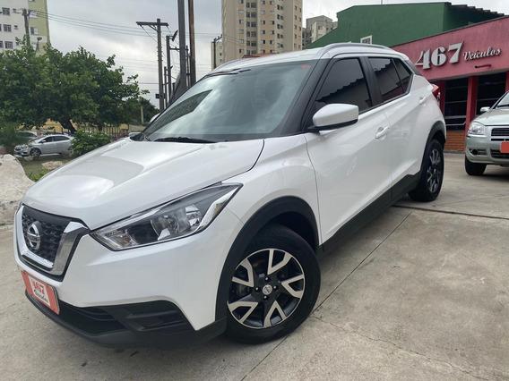 Nissan Kicks 1.6 S Automatica 2018 Branca Perolizada Flex