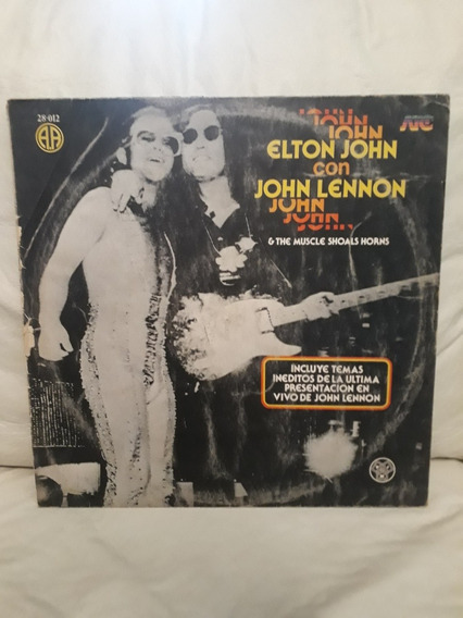 Elton John John Lennon En Vivo Lp Vinilo Beatles The Muscle
