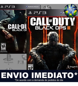 Call Of Duty Black Ops 1 + Black Ops 3 Ps3 Psn Português Br