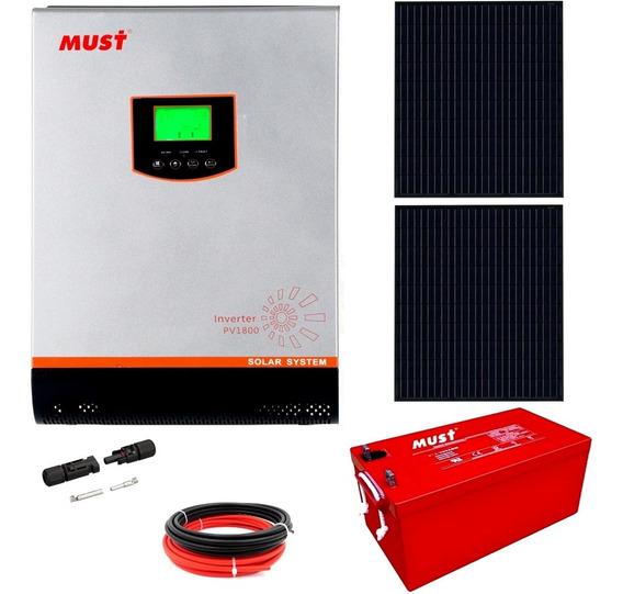 Kit Solar Must Completo Inversor 1000w Ondapura Motorhome M6