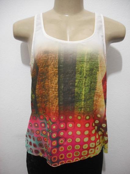 Blusa Regata Cropped Colorido Tam M Yumaribel Sem Uso