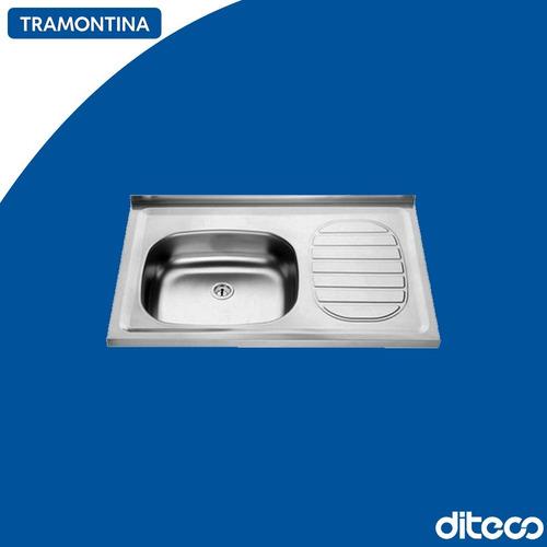 Imagen 1 de 1 de Tramontina 93410/500 Pileta 1 Bacha 80x50 Esc. Der. Ac430