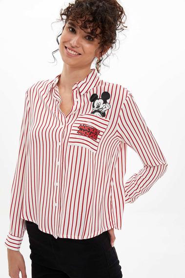 Camisa L7917az_rd70 Mangas Largas Rojo Para Mujer