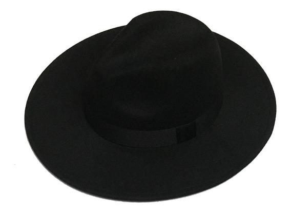 Chapéu Fedora Feltro Aba Grande E Reta De 8cm Várias Cores