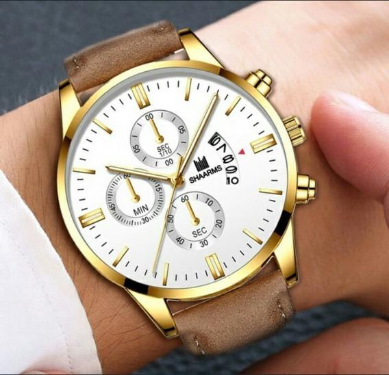 Relógio Masculino Dourado Original