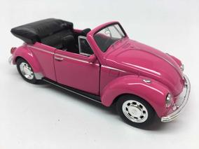 Miniatura Fusca Conversível Rosa