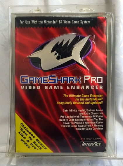 Raro Game Shark Nintendo 64 Completo No Blister C/ Vhs Show