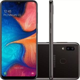 Celular Samsung A20 Preto 32gb 6.4