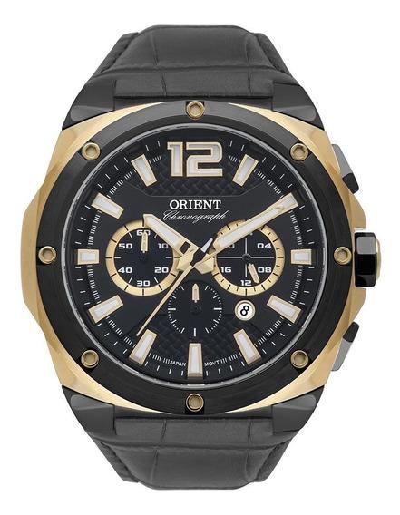Relogio Orient Masculino Couro Preto Cronograf Mtscc035 P2px
