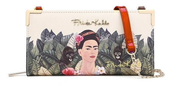 Frida Kahlo Original Billetera Fj928 Red