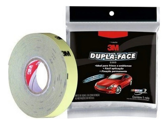 Fita Dupla Face Frisos 5369 Automotiva 12mm X3m 3m