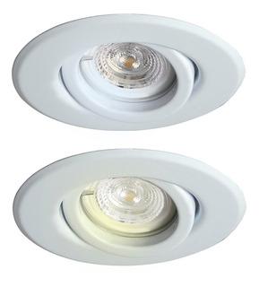Combo X10 Spot De Embutir Dicroica Blanco Led 5w Gu10 220v