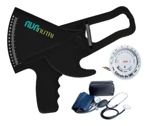 Adipômetro Plicômetro + Medidor De Pressão + Estetoscópio