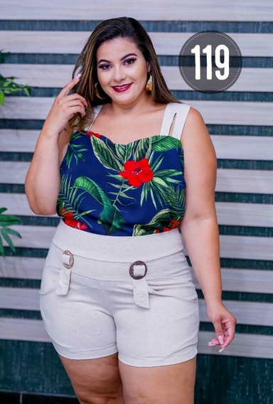 Conjunto Plus Size ( Short + Blusa) Colection Sofistic Gloss