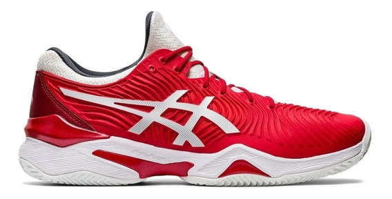 Tênis Asics Gel Court Ff Novak Classic Red Clay - Saibro New