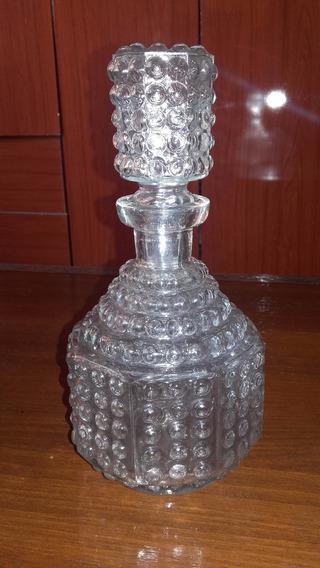Antiguo Perfumero De Vidrio