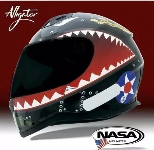 Capacete Nasa Helmets Alligator Sh-881 58