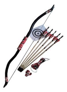 Arco Recurvo Mongol De 36# + 5 Flechas