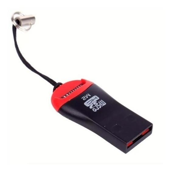 Mini Leitor De Cartão Micro Sd / M2 Adaptador Usb Pendrive