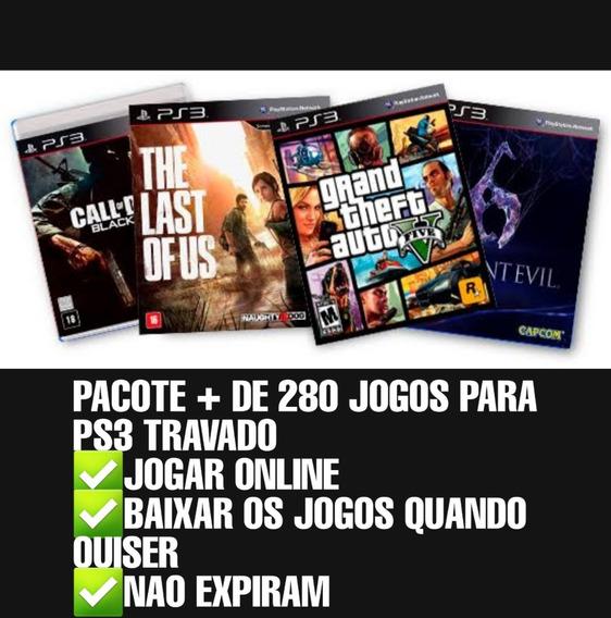 Pacote + De 280 Jogos Para Ps3 (leia A Descrição)