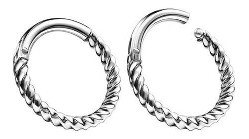 Septum Clicker Twister Sin Strass Piercing Argentina ®