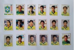 Lote Com 18 Figurinhas Novas Brasil Álbum Copa Do Mundo 1994